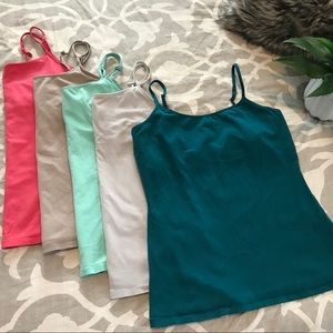 Set of 5 Camisole tank tops by Express